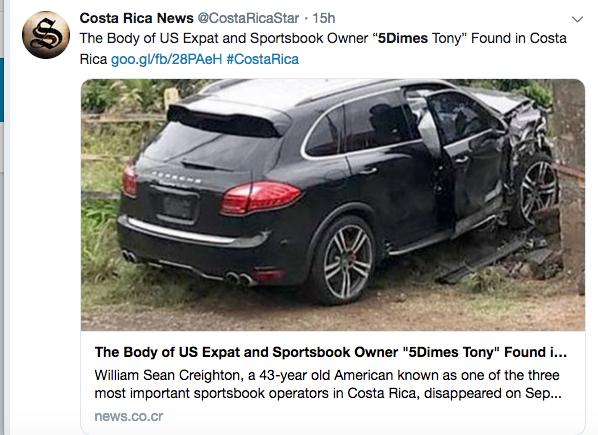 5Dimes Owner's Body Found in Costa Rica