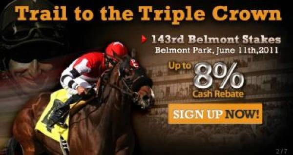 Bet on the 143rd Belmont Stakes at BetDSI.com, Get 8% Rebate