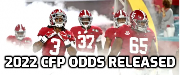 Early 2022 CFP Title Odds Have 88 Teams With Alabama on Top