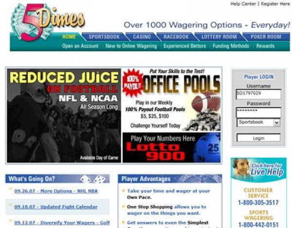 5Dimes Sportsbook Pitbull Poker