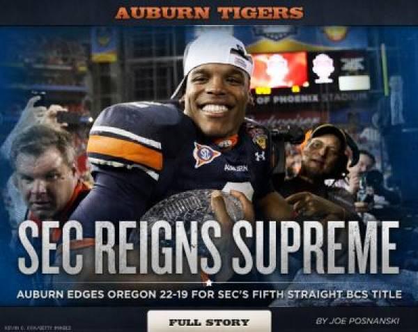 Auburn BCS Championship Win