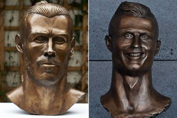 Gareth Bale Bust Commissioned by Paddy Power Ahead of Real Madrid v Juventus Game