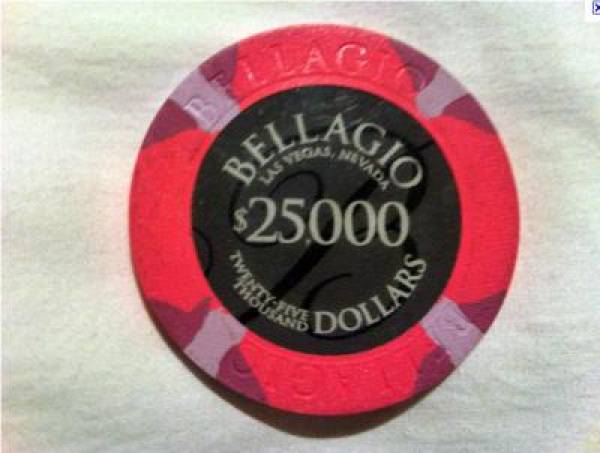 Bellagio $25000 Chip