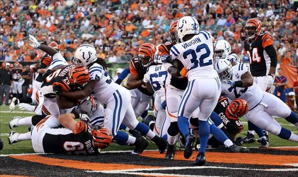 What is the Line on the Bengals Colts Week 1 Game