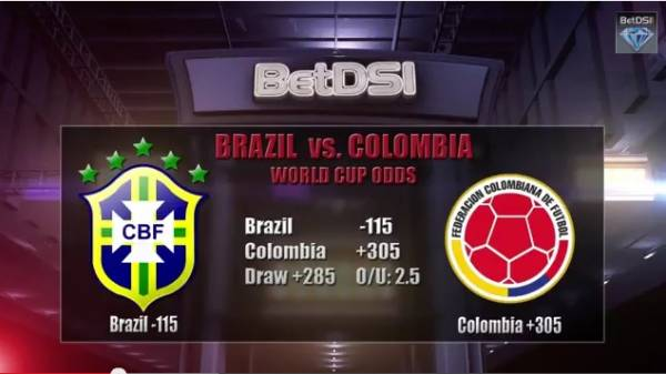 Brazil vs. Colombia World Cup Betting Odds