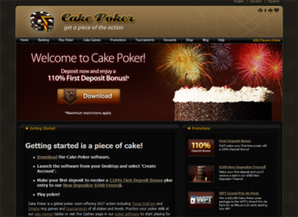 Cake Poker Announces Major Software Upgrade