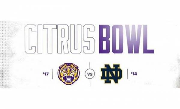 2017 Citrus Bowl Betting Odds - Notre Dame vs LSU