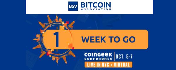 CoinGeek NYC Live or Virtugal: One Week to Go