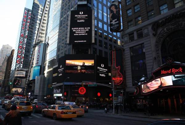 New Bitcoin Sportsbook CoinBet Debuts in Times Square: Hot or Dangerous Trend in