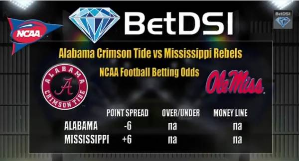 College Football Lines Predictions Week 6 Alabama Vs Ole Miss