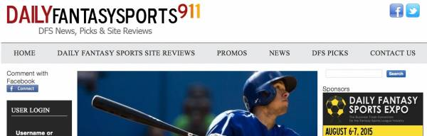 Daily Fantasy Sports 911 Goes Live: DFS Picks, News, Reviews and More