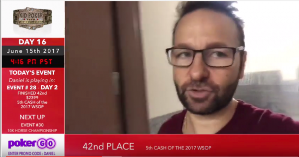 Daniel Negreanu Cashes for 5th Time This WSOP and Wants to Stake You
