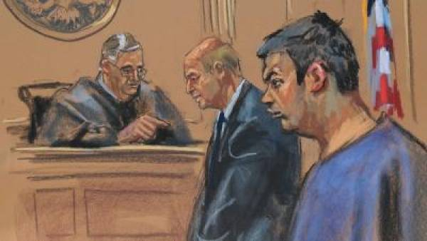Court Sketch Drawn of Online Poker Kingpin Turned Informant Daniel Tzvetkoff