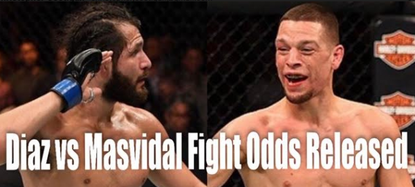 Diaz vs. Masvidal, Nunes vs. de Randamie Fight Odds Released