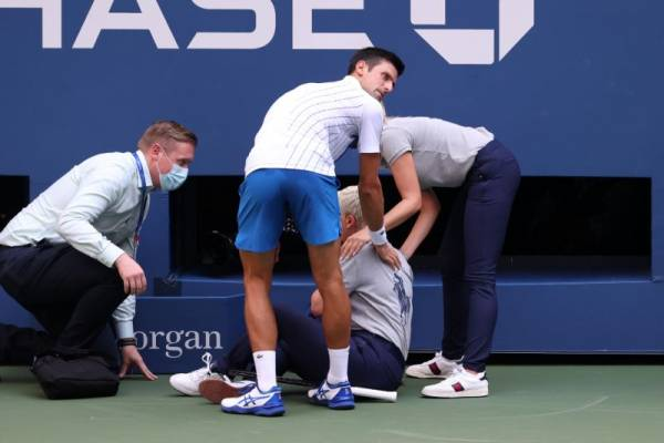 Favorite Novak Djokovic Out of US Open for Accidentally Hitting Line Judge With Ball