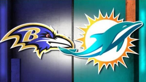 TNF Betting Odds Dolphins vs. Ravens