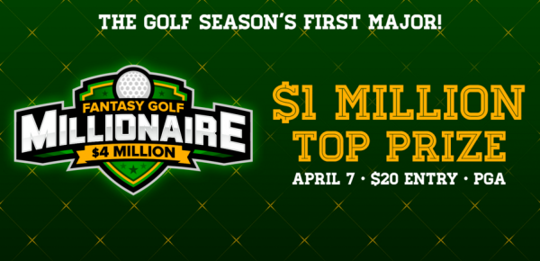 DraftKings $4M Fantasy Golf Millionaire Contest for the 2016 Masters