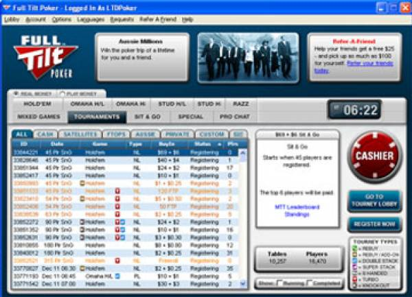 Full Tilt Poker Washington State