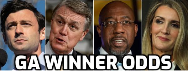 Latest Odds for Georgia Runoffs, Control of Senate