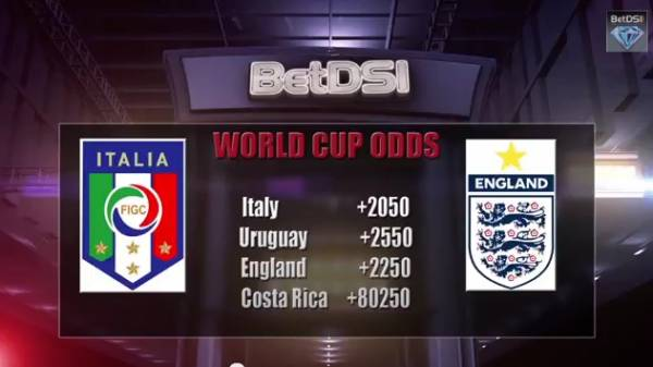 Italy v England World Cup 2014 Betting Odds – Prediction From BetDSI.com