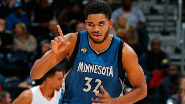 2017 NBA All Star Weekend Rising Stars Betting Odds: Karl-Anthony Towns Favored