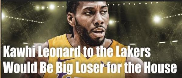 Bet Where Kawhi Leonard Goes - House Needs Him to Stay with Raptors