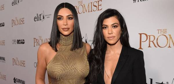 Odds on Kim and Kourtney Kardashian Fight as Two 'Go at it'
