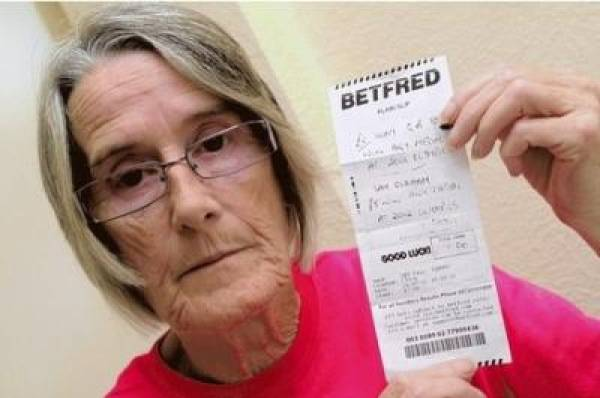 British Olympian Gymnast Sam Oldham's Granny Finally has Cashed Her BetFred Chec