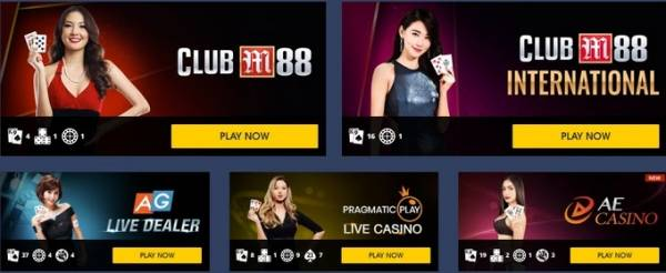 Games Offered At M88 Online Casino