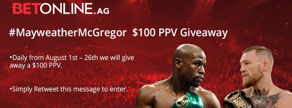 Online Gambling Site Giving Away From Pay Per View on McGregor-Mayweather Fight