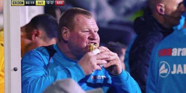 Meat Pie Eating Goal Keeper Resigns Following Bet Stunt, FA Probe