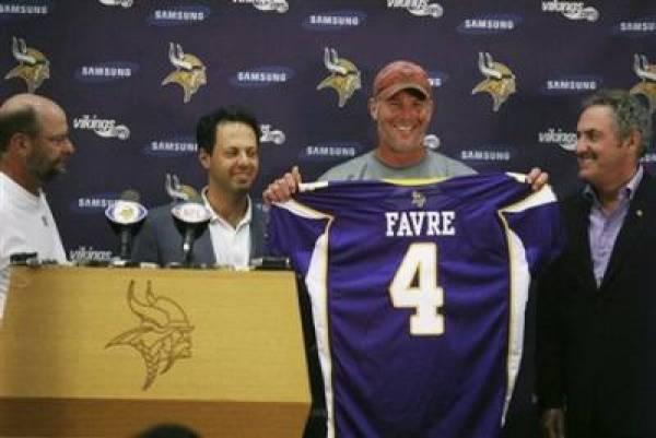 Minnesota Vikings Brett Favre