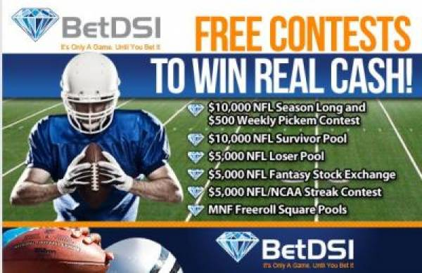 2012 Free NFL, College Football Contests Offer Big Cash Prizes at BetDSI.com