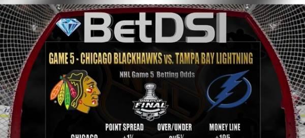 NHL Finals Game 5 Odds - Lightning vs. Blackhawks