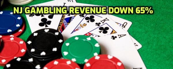 NJ June Gambling Revenue Down 65.6% Amid Virus Closure