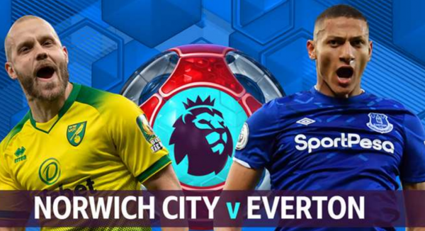 Norwich v Everton Match Tips Betting Odds - Wednesday 24 June