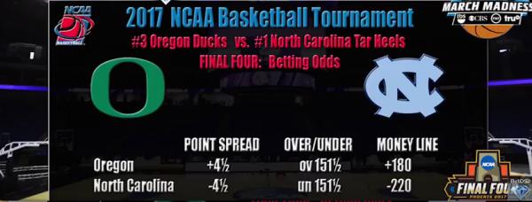 Final Four Odds, Picks, Betting Preview – Oregon vs. UNC