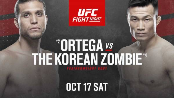 Ortega-Jung Fight Odds - UFC Fight Island