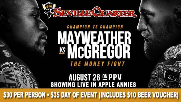 Where Can I Watch, Bet the Mayweather-McGregor Pensacola, Destin
