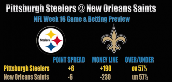 Steelers vs. Saints Betting Preview - Week 16