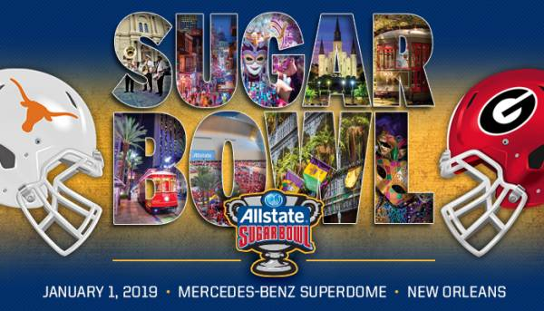 Bet the Sugar Bowl 2019 - Texas vs. Georgia