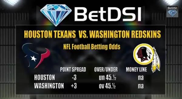 Redskins vs. Texans Free Pick – Week 1 NFL