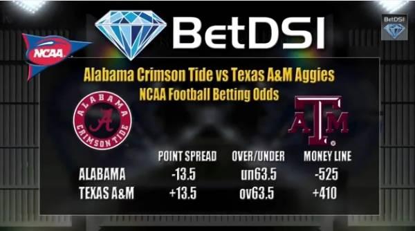 Texas A&M vs. Alabama Pick – Betting Line