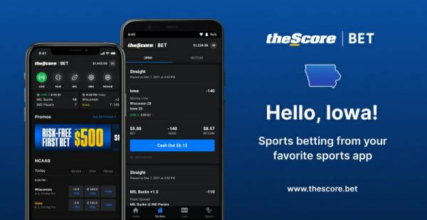 TheScore Launches Sports Betting App in Iowa