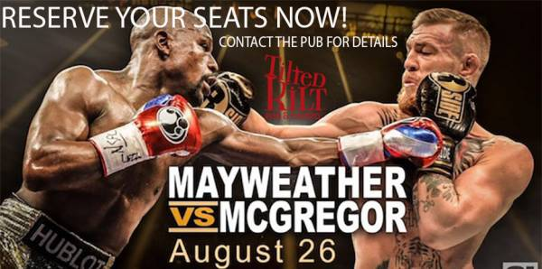 Where Can I Watch, Bet the Mayweather-McGregor Fight Portland, Maine