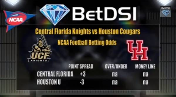 UCF vs. Houston Point Spread, Prediction