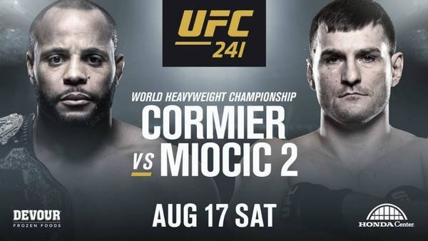 Where Can I Watch, Bet The Cormier vs Miocic Fight - UFC 241 - Louisville, KY