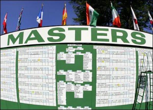 US Masters Golf Betting Lines - 2012 (Updated April 4)