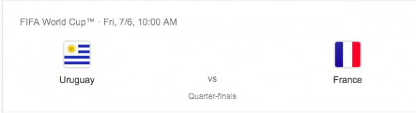 Uruguay vs. France Betting Odds - Quarter Finals 2018 World Cup