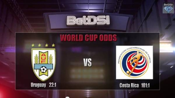 Uruguay v Costa Rica World Cup Betting Odds - 2014